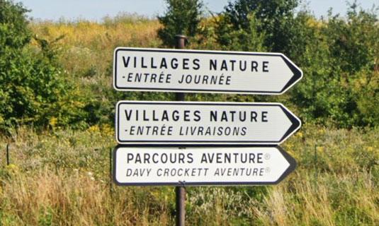 Panneaux d'accès à Parcours Aventure®